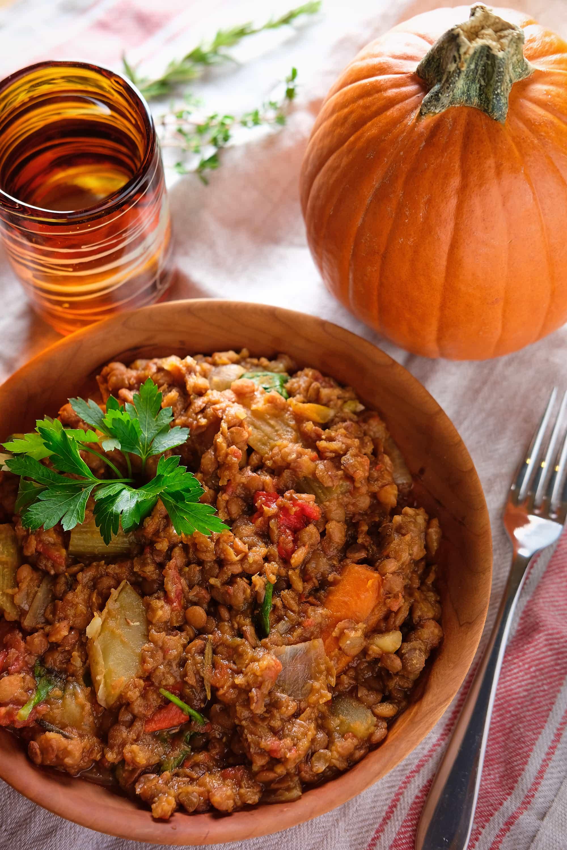 Lentil & Pumpkin Stew [vegan]