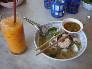When you are in Thailand, Eat what the local eats!
