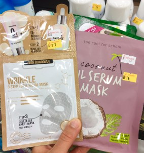 As well as moisturizing face masks to help the skin relax.