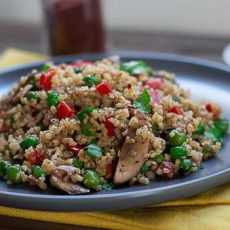 Bulgur wheat stir fry
