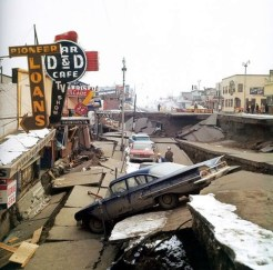 4th Avenue after the Good Friday Earthquake of 1964