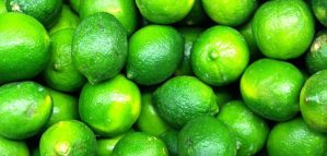 Food fruit limes green background