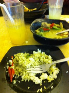 Poulet au curry thai