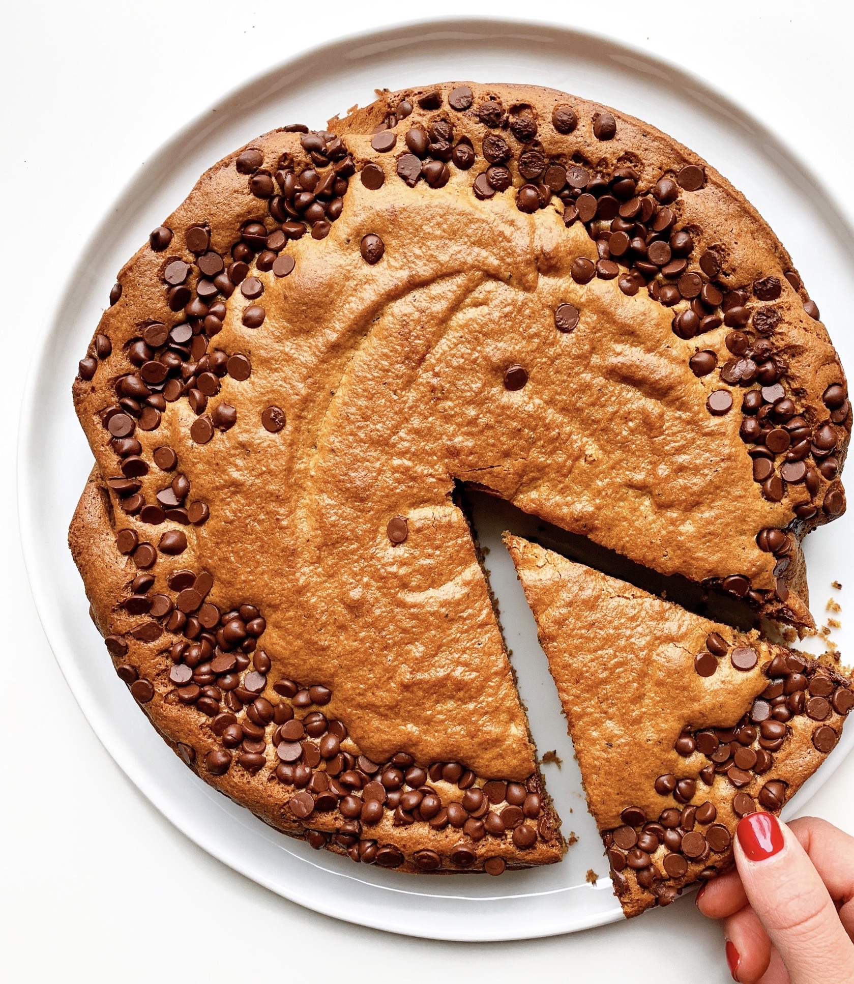 Giant Gluten Free Coffee Cookie Cake