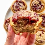 Peanut Butter & Jelly Banana Muffins