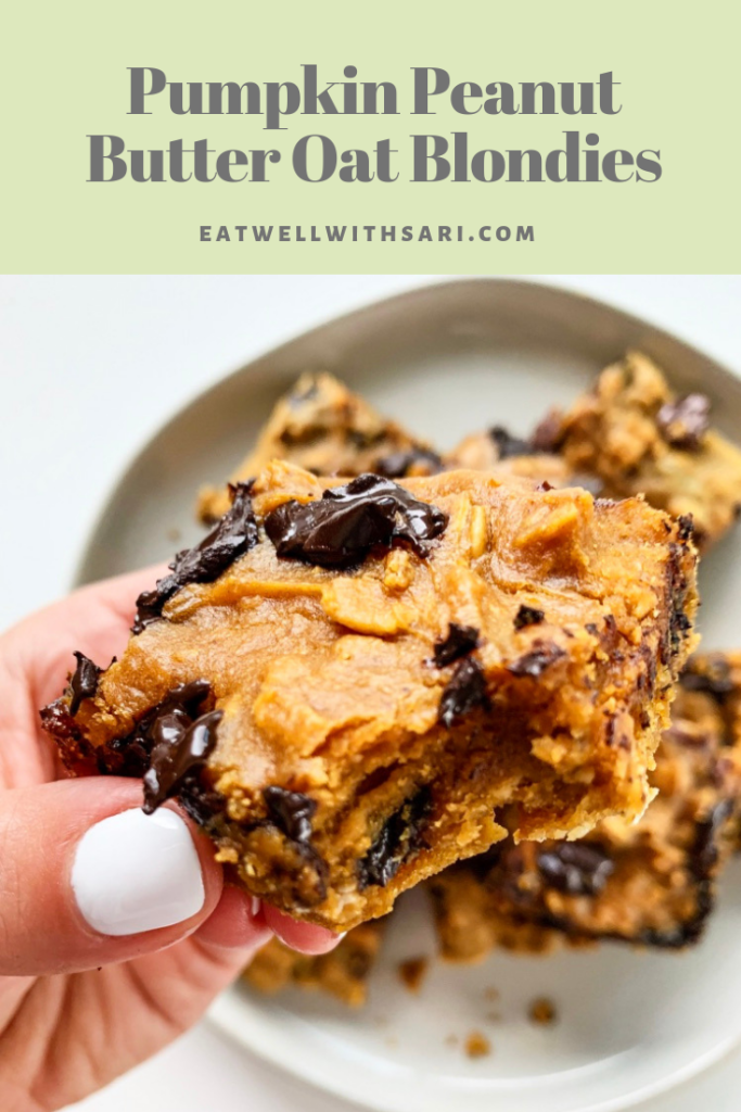 Pin Pumpkin Peanut Butter Blondies