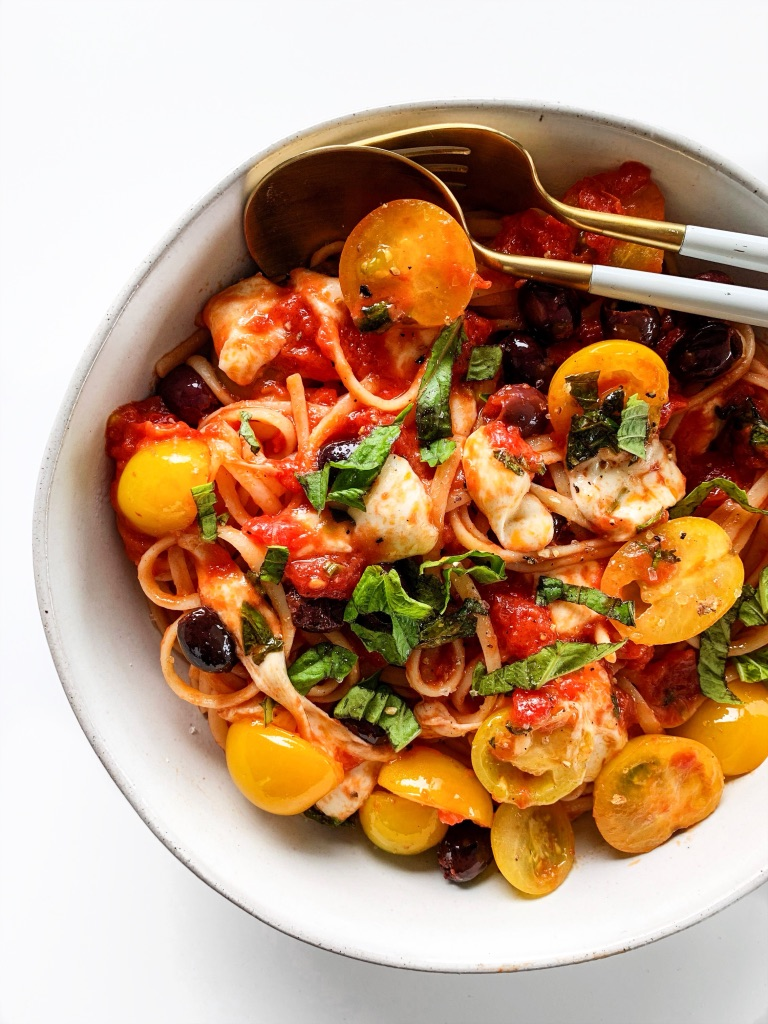 Caprese Week Night Pasta Recipe
