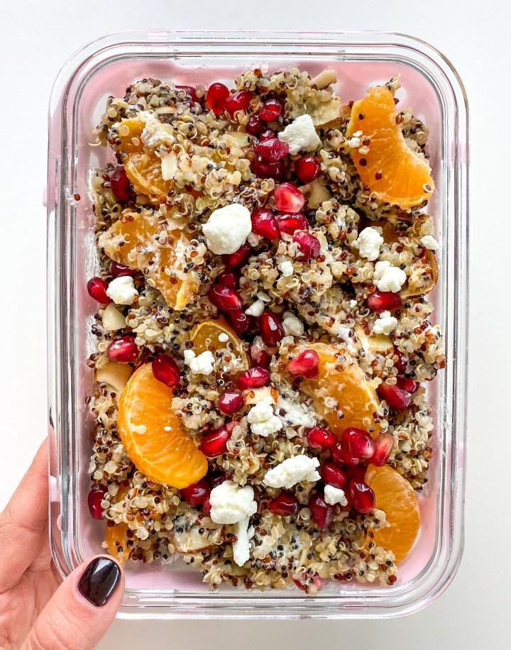 Winter Citrus Quinoa Salad Meal Prep