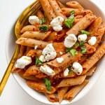 Goat Cheese Balsamic Tomato Pasta Sauce