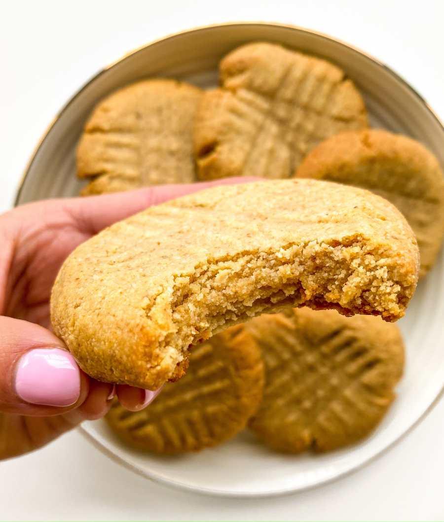Gluten Free Salted Peanut Butter Honey Cookies