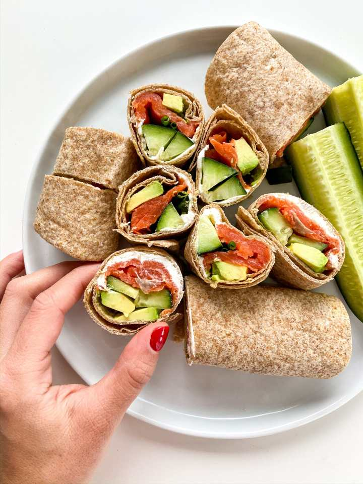 Alaska Smoked Salmon Tortilla Roll Ups Eat Well With Sari
