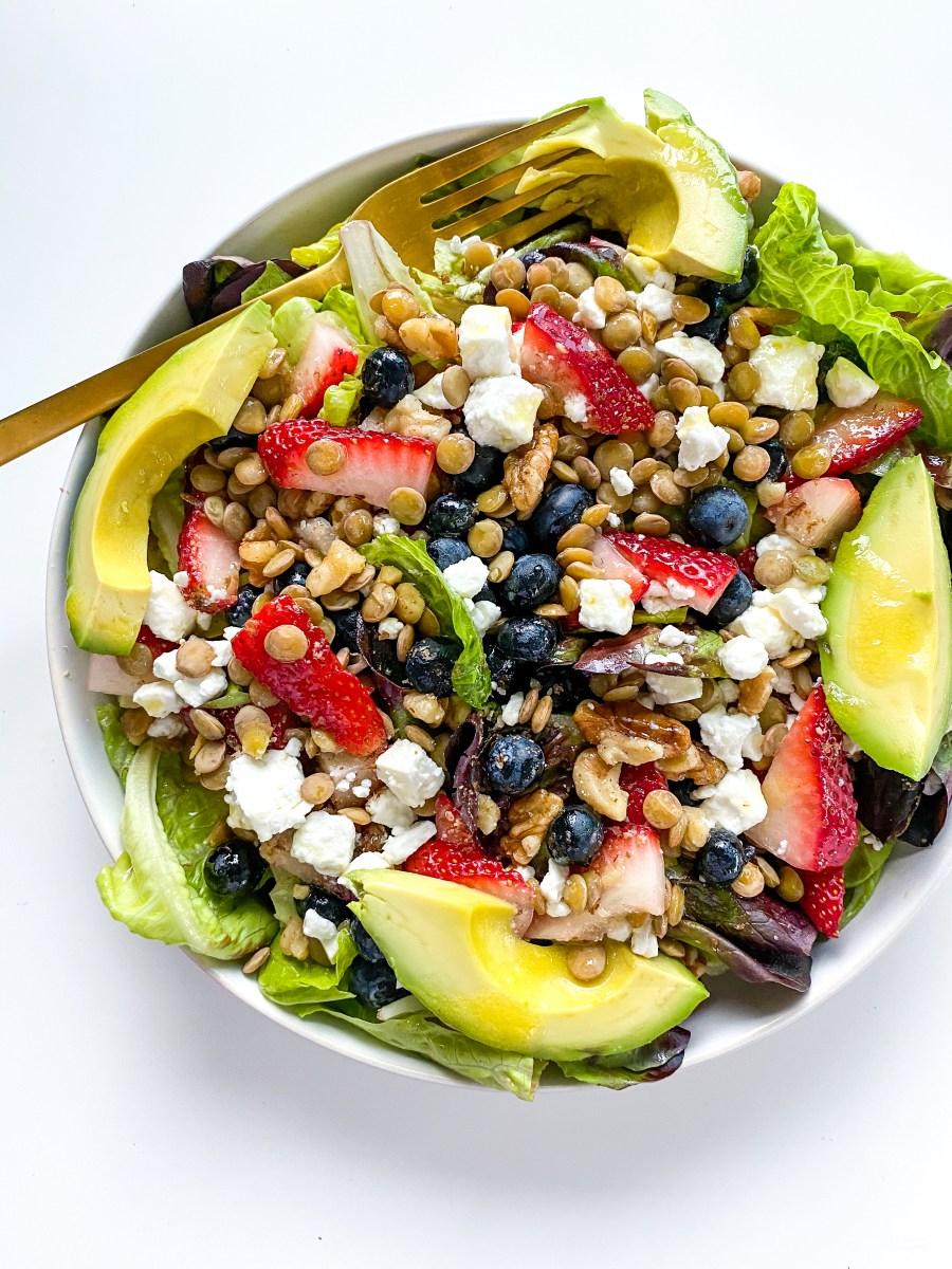 Berry Lentil Summer Salad