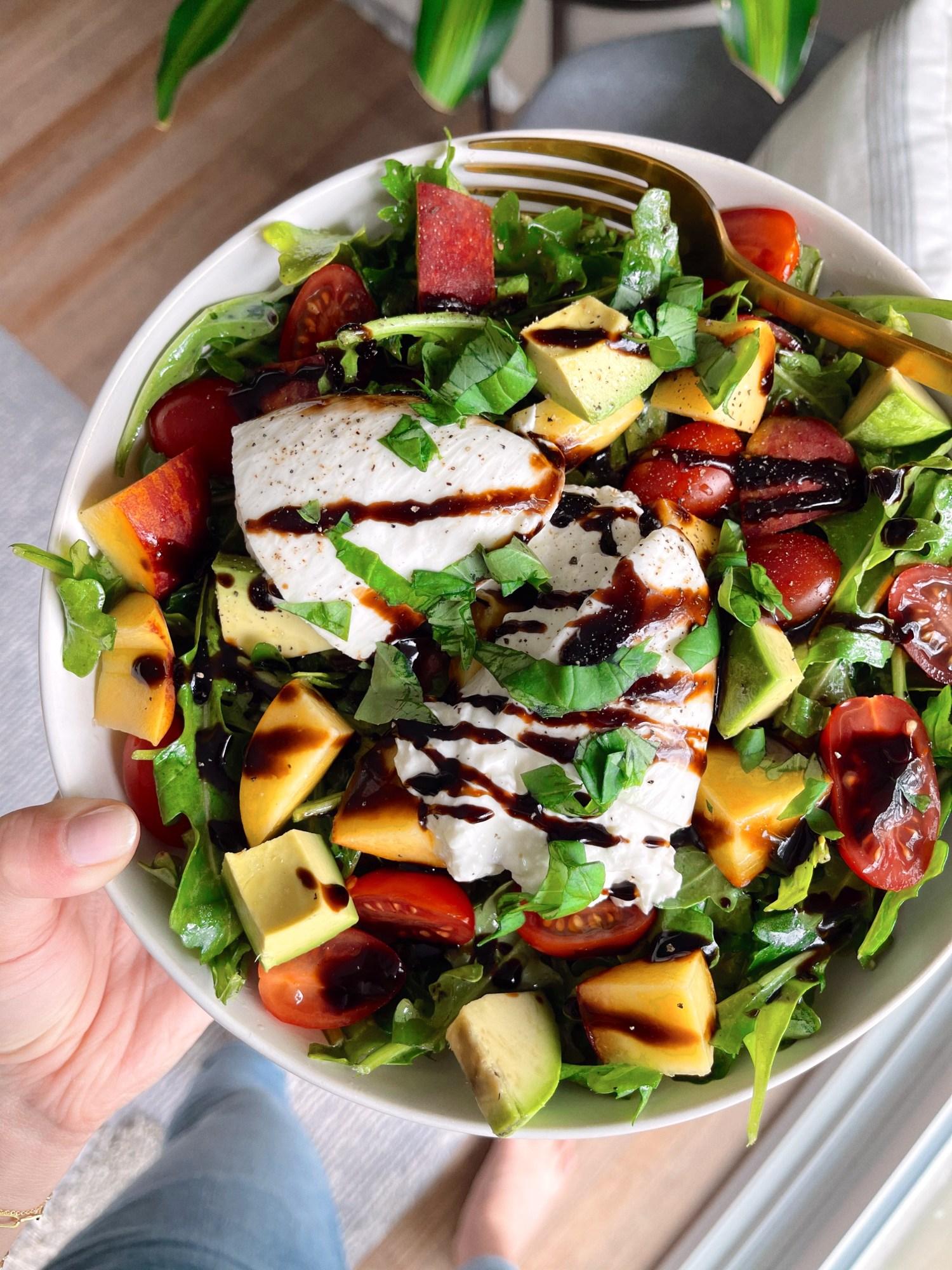 Sweet Burrata Peach Salad