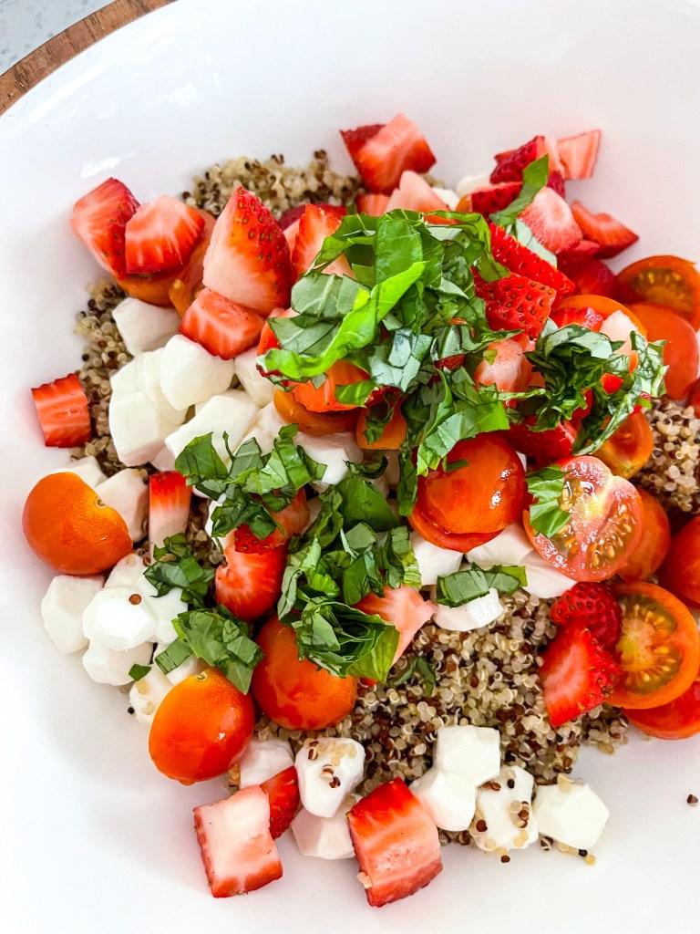 Summer Caprese Quinoa Salad