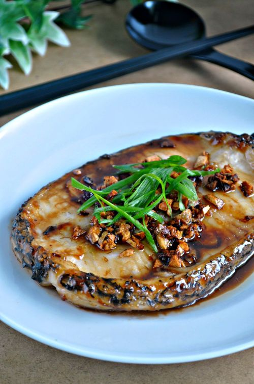 Grilled Cod Fish in Garlic Oyster Sauce_2