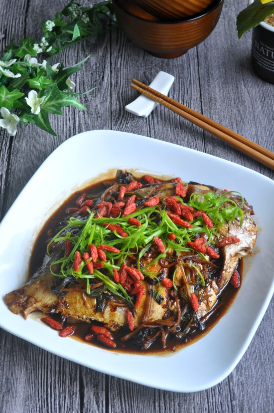 Spring Onion Braised Fish_2