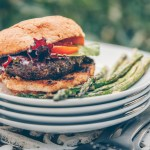 Portobello Pesto Burger (Vegan)