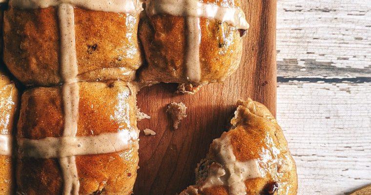 Chai Spiced Hot Cross or Tea Buns (Vegan)