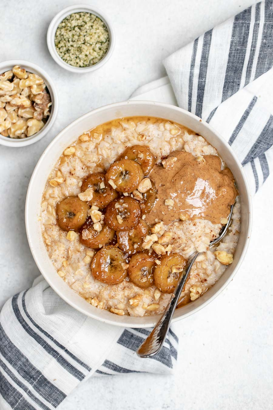 The BEST Caramelized Banana Oatmeal | Eat With Clarity