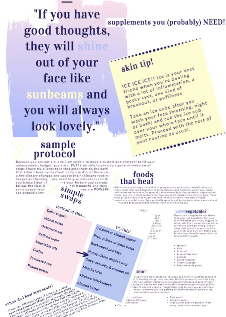 preview of clear skin ebook