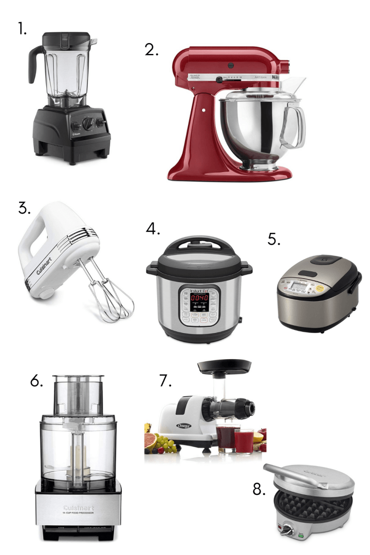 Collage of favorite kitchen appliances.