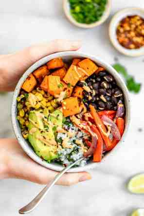 Vegan Sweet Potato & Black Bean Burrito Bowl