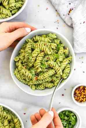 Nut Free Pesto Pasta