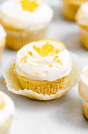 Fresh Vegan Lemon Cupcakes