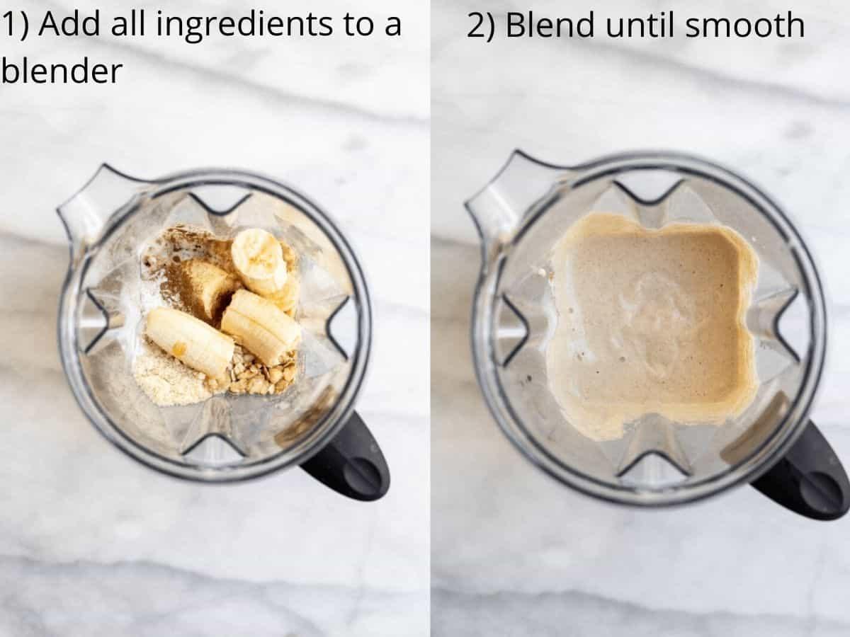 Pancake batter in a blender