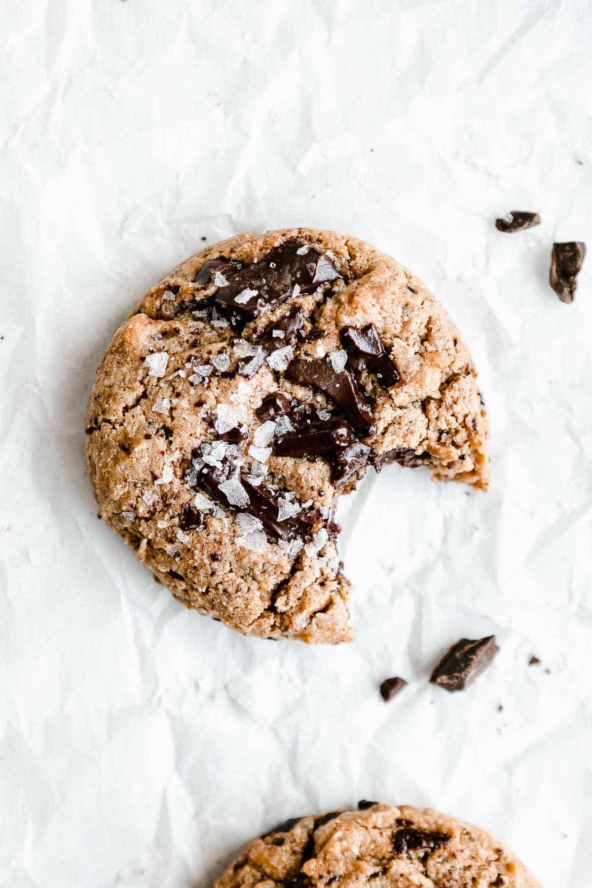 vegan protein cookies with chocolate chunks