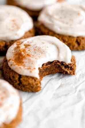 Frosted Vegan Pumpkin Cookies