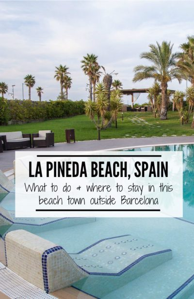 La Pineda, Spain is the perfect beach right outside of Barcelona. It's a gorgeous beach town that is less crowded than the city. Perfect way to spend a couple days during your next trip to Spain. | www.eatworktravel.com The luxury, adventure travel couple!