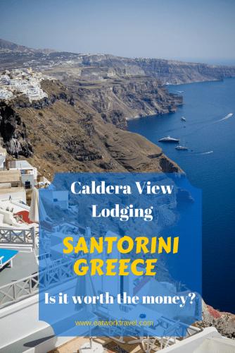 Considerations when choosing lodging in Santorini, Greece   www.eatworktravel.com