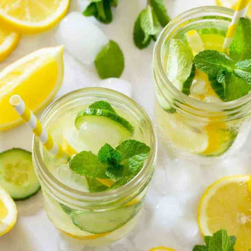 4 types of detox water recipes for your skin. peach infused water recipe. orange blueberry infused water. spa water. detox water. raspberry herb water. raspberry basil water. raspberry mint water. fruity cinnamon water. apple cinnamon mint water. cucumber infused water benefits. fruit infused water benefits. benefits of infused water.