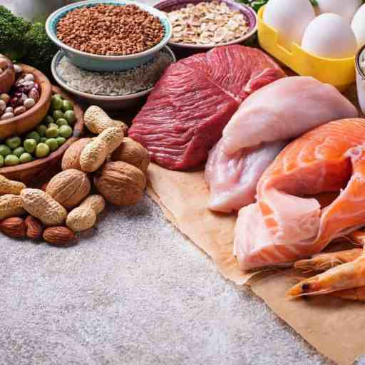 Foods rich in protein.