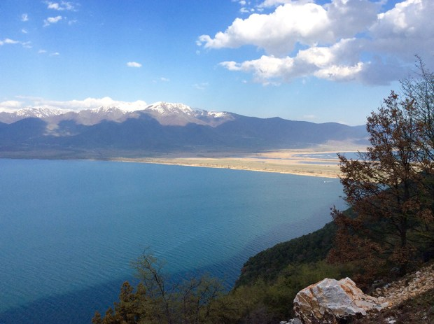 Koula - separating Great and Small Prespa Lake