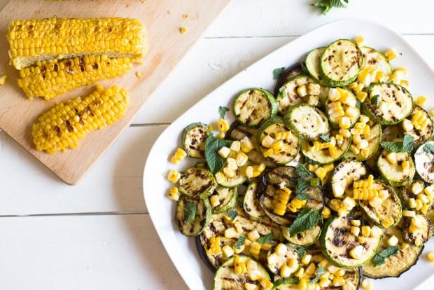 Roast corn salad @eatyourselfgreek