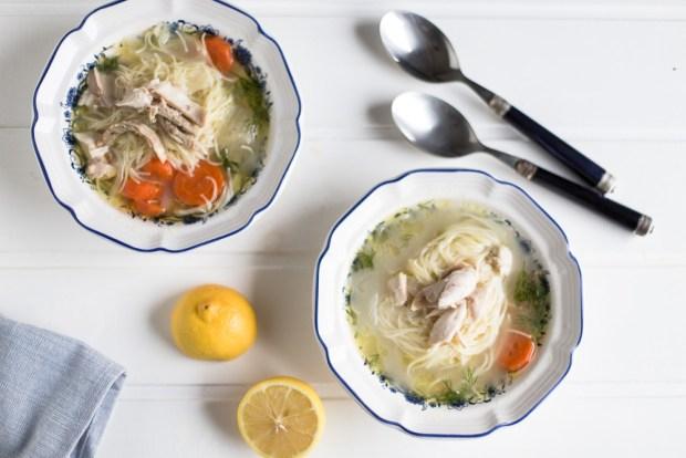 Greek chicken soup @eatyourselfgreek