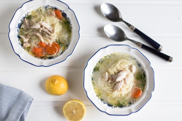 Greek chicken soup @eatyourselfgreek
