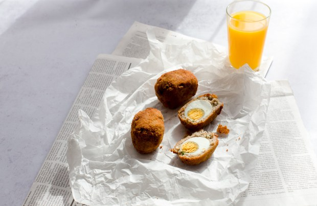 Scotch eggs @eatyourselfgreek
