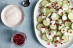 cucumber and pomegranate salad @eatyourselfgreek