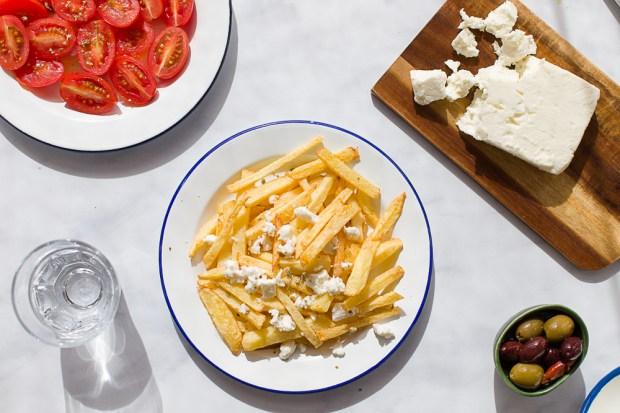 homemade fried potatoes @eatyourselfgreek
