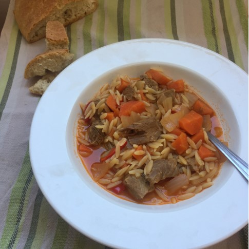 beef soup with orzo
