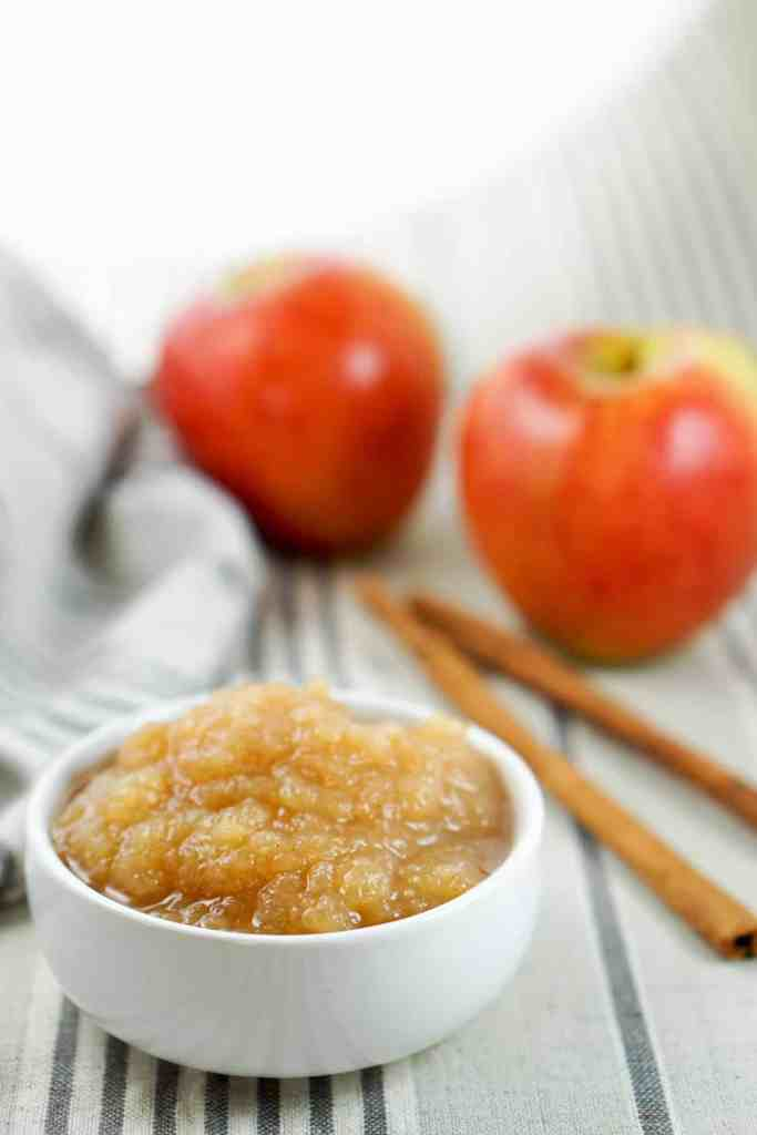 Apple Butter Recipe - A perfect and healthy spread made from just apples, salt and a dash of cinnamon. Spread on toast, muffins, pancakes, or just by itself