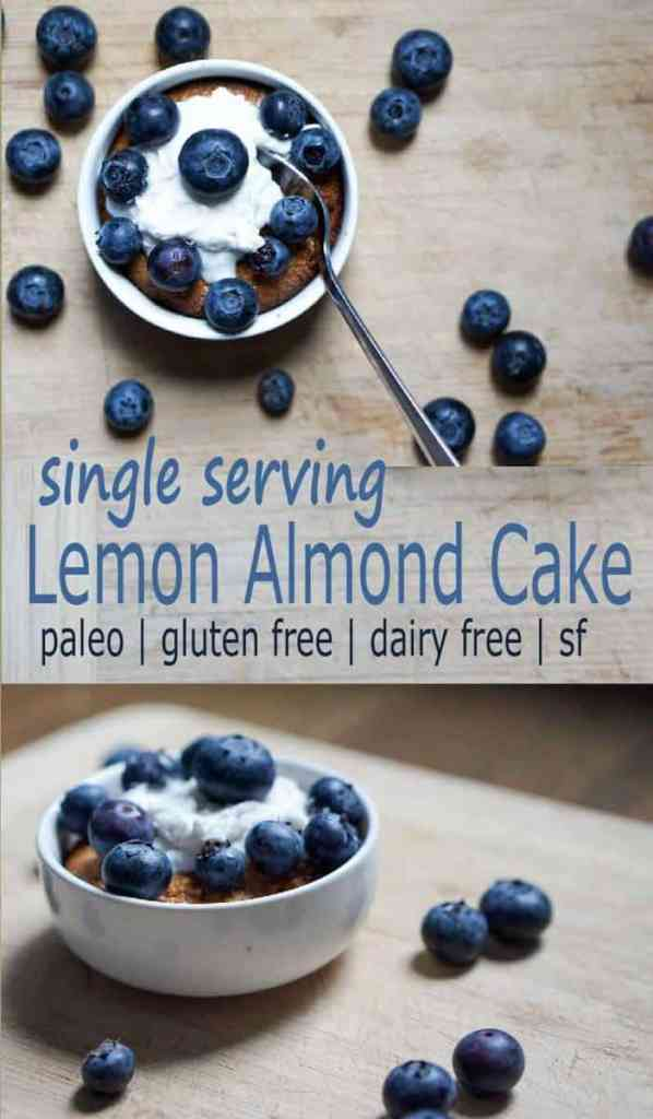 Sometimes you need a personal cake, so you make this Easy Single Serving Paleo Lemon Almond Cake and don't even feel bad - sugar, dairy, grain & gluten free