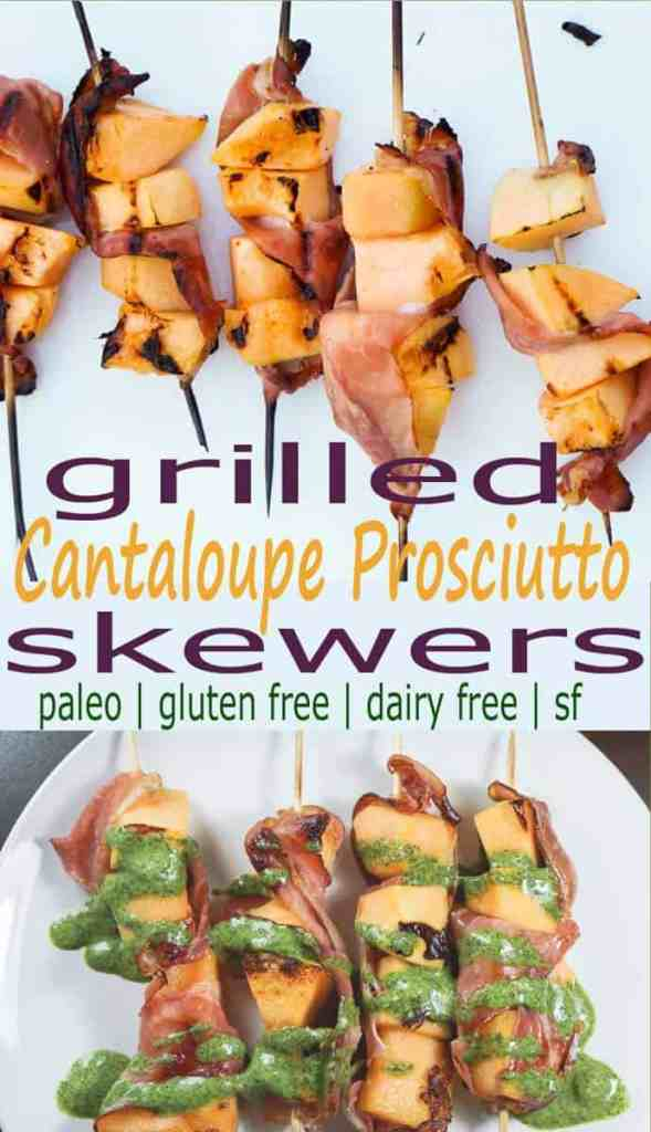 Looking for something a little healthier to spice up your barbecue? Try these grilled cantaloupe prosciutto skewers. Just 2 ingredients and paleo, gf, df.