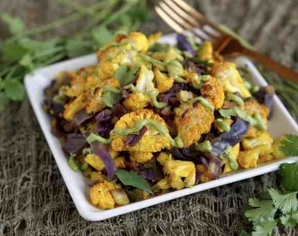 AIP friendly Turmeric Cauliflower Bake that will make grain-free easy
