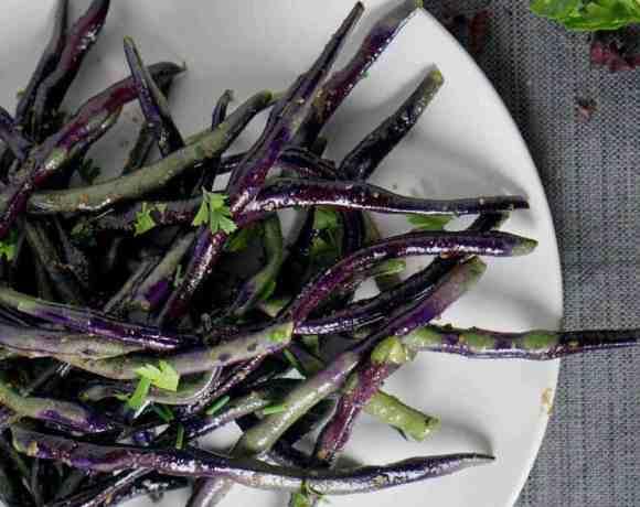 Truffled Purple Green Beans