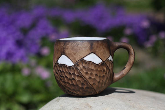 hand crafted earthen mug - gift guide for your crunchy eco-friendly friends