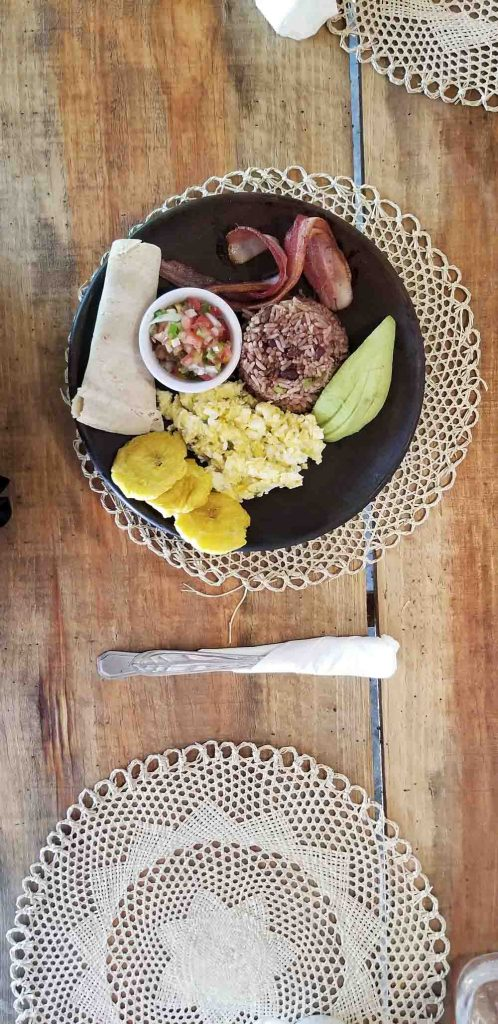 A typical Nica Breakfast from DreamSea